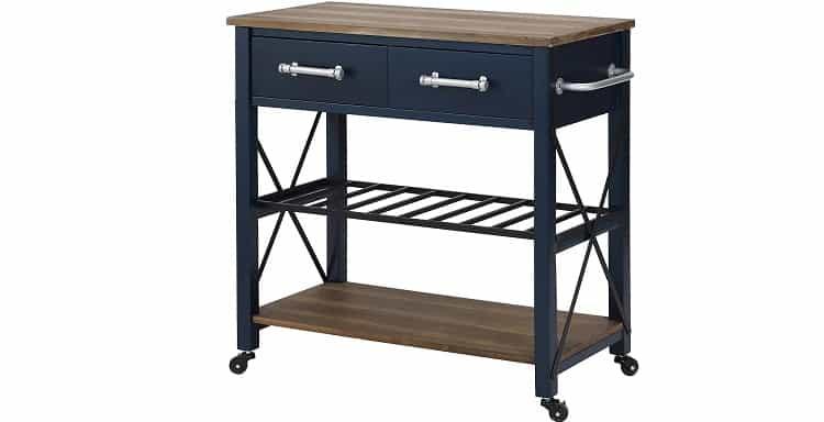FirsTime & Co. Navy Aurora Farmhouse Kitchen Cart